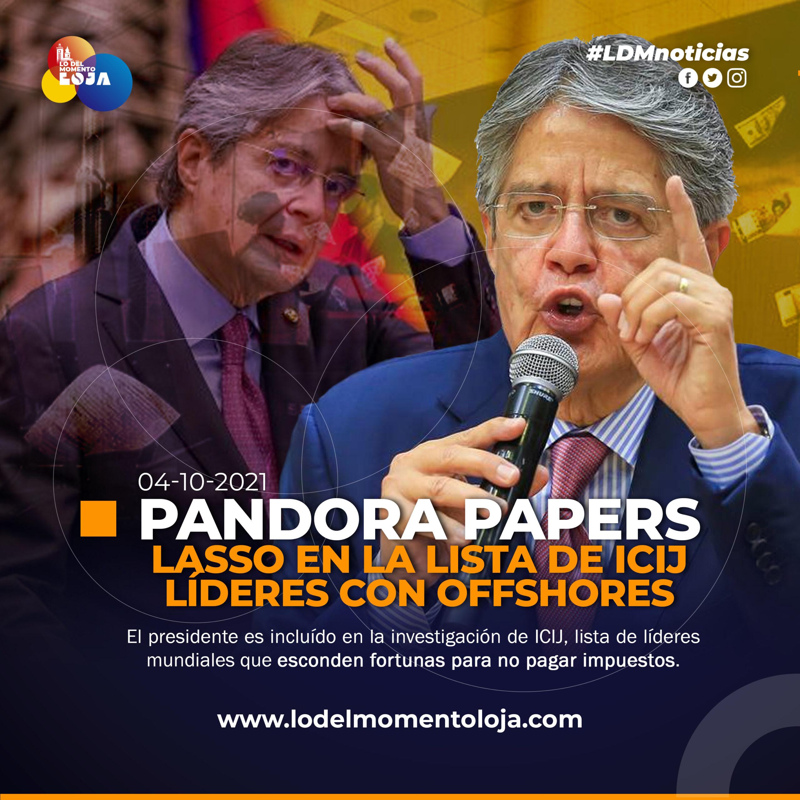 Guillermo Lasso en la lista de Pandora Papers