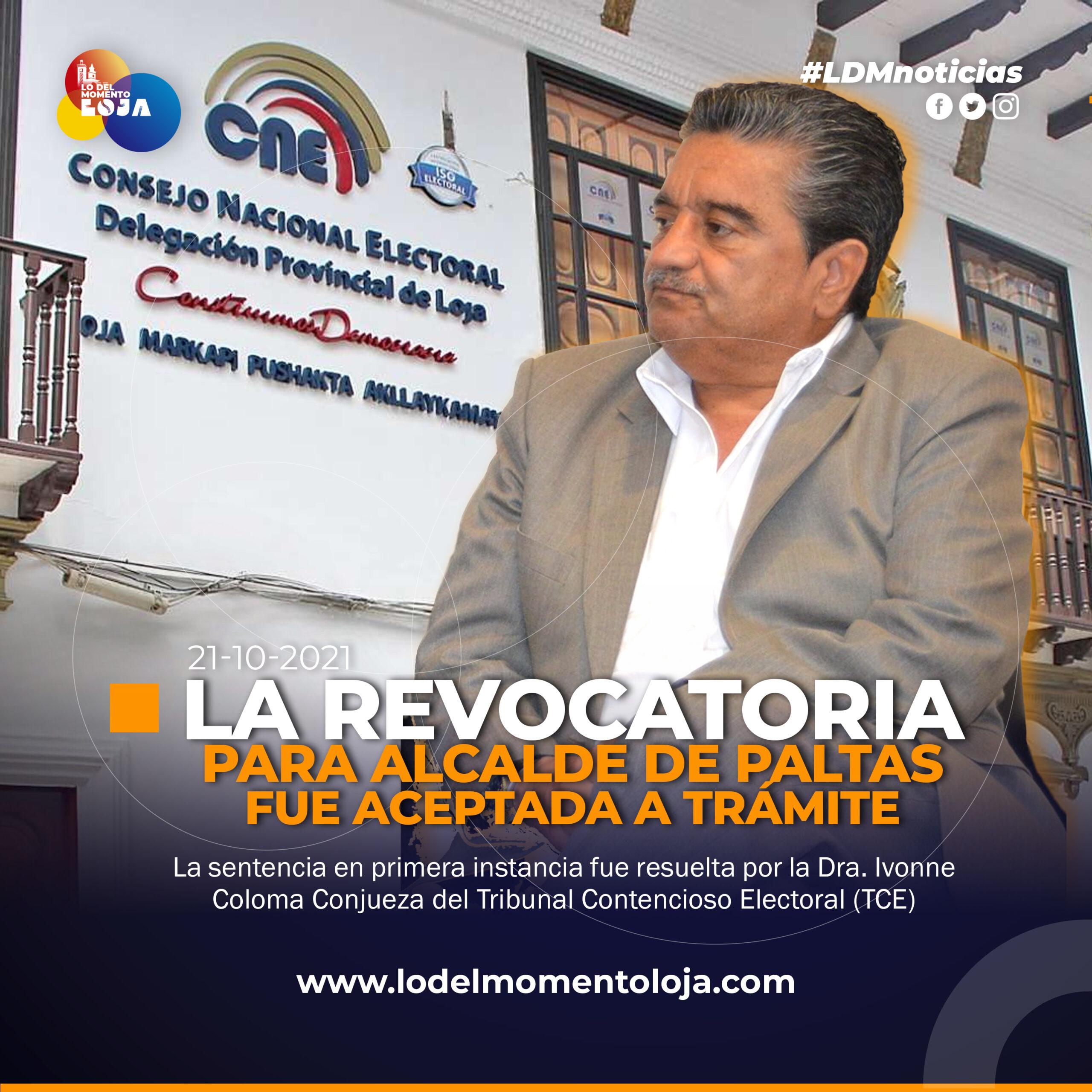 Inician proceso de revocatoria contra Alcalde de Paltas