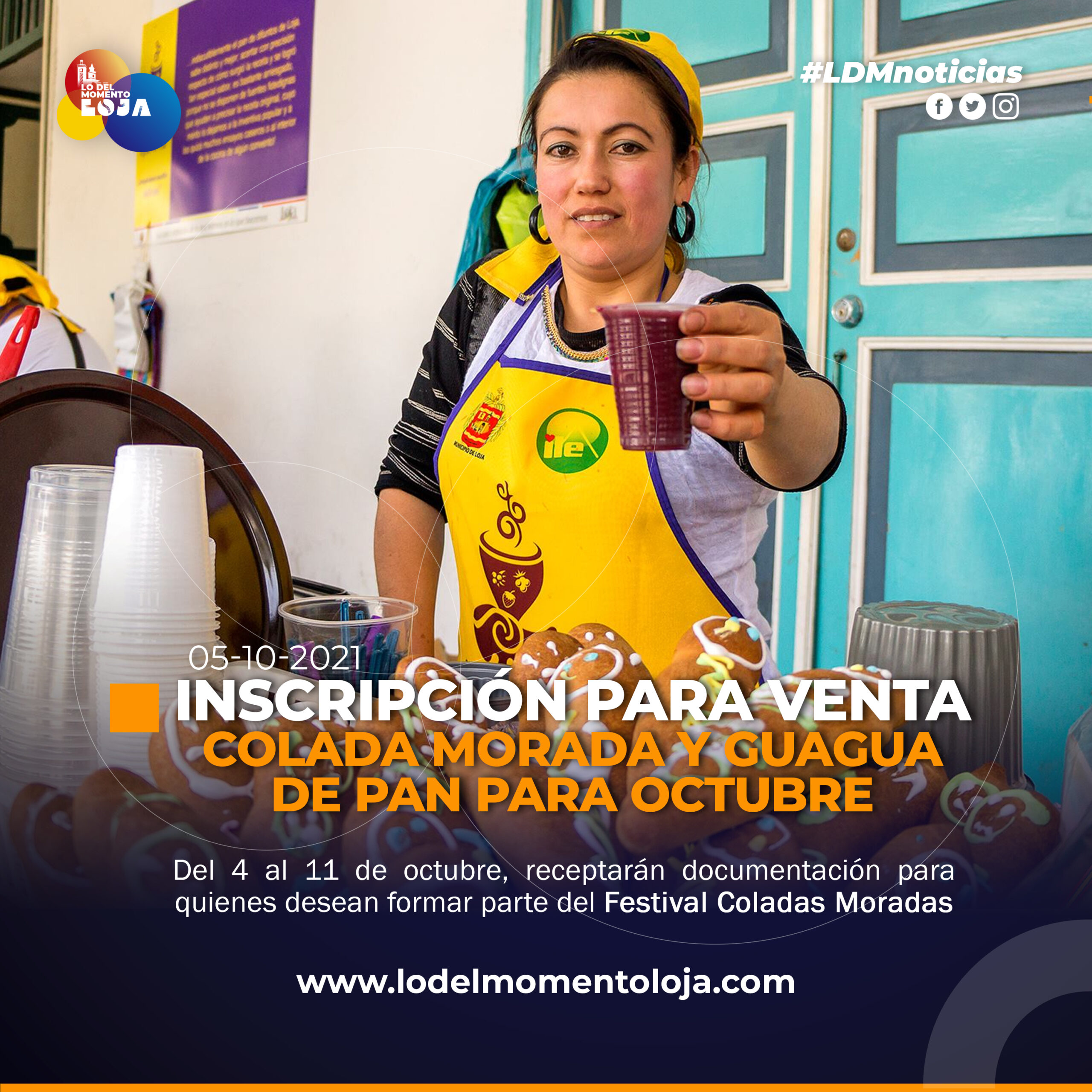 Inscripciones para el Festival de Colada Morada